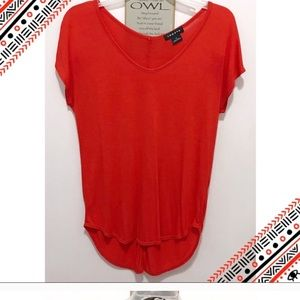 Trouve XS BLOUSE RED FIERY NWT